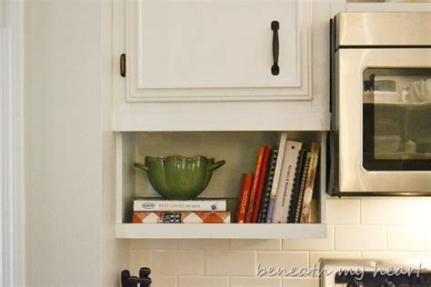 kitchen cabinet books our diy the cabinet cook book holder beneath my 2370