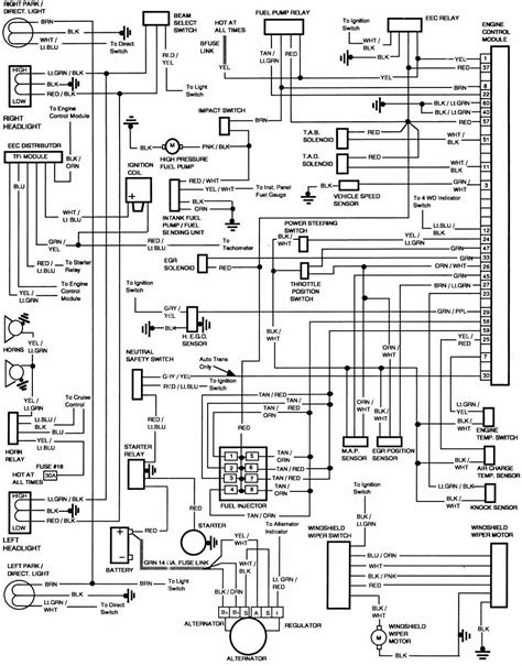 Electrical Wiring Diagram Ford F 250 by Ford F 250 1986 Engine Module Wiring Diagram All