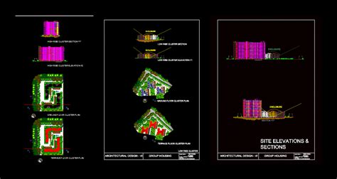 group housing dwg detail  autocad designs cad