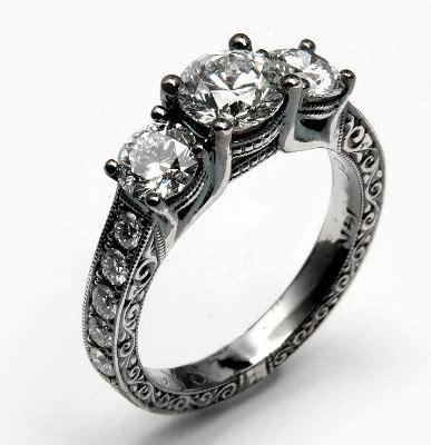 black metal engagement rings engagement ring with black rhodium finish