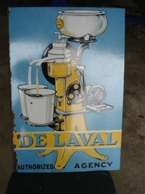 old delaval porcelain graphic sign antique price guide