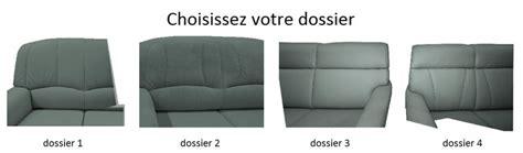 dossier de canapé canapé convertible dossier haut elektra