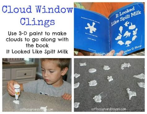 quot it looked like spilt milk quot book and window clings 278 | b113c9737a2172caefd0f438f011e2a0 reading lessons reading activities