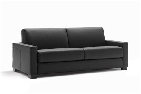 Cooper Sofa Bed With Black Leather Cover