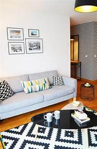 C sandrine carre decoratrice salon scandinave coussin for Canapé convertible scandinave pour noël architecte decorateur interieur