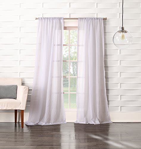 no 918 tayla crushed sheer curtain panel 50 by 95 inch