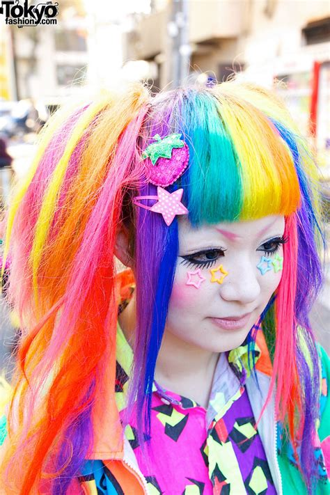 Bright Rainbow Colored Harajuku Decora Girls Maimai And Marina