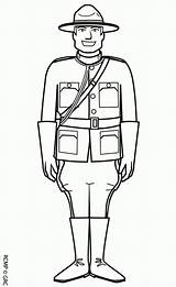 Coloring Mountie Pages Canada Canadian Sheets Colouring Printable Print Sheknows Activity Adult sketch template