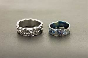 The wolf and the unicorn titanium wedding rings what39s for Wolf wedding rings