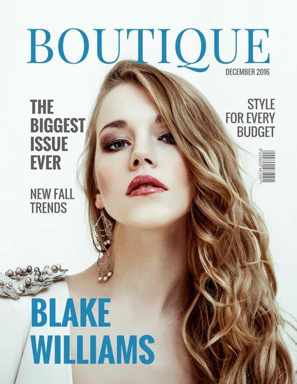 Customize 257+ Fashion Magazine Cover Templates Online Canva