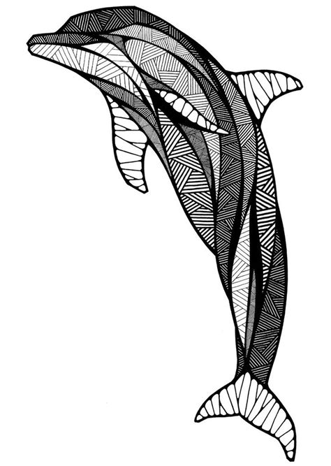 dolphin   Zentangle Fish   Pinterest   Dolphins, Graphics