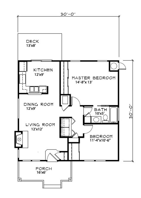 Cottage Style House Plan 2 Beds 1 Baths 900 Sq/Ft Plan