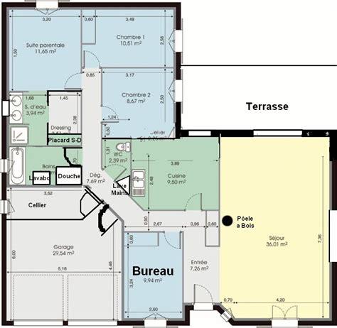 maison 4 chambres plain pied plan de maison plain pied moderne 28 images plan