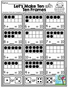 Let's Make Ten! Roll a die and solve a ten frame problem ...