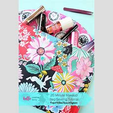 20 Minute Makeup Bag Sewing Tutorial Perfect For Teens And Beginners
