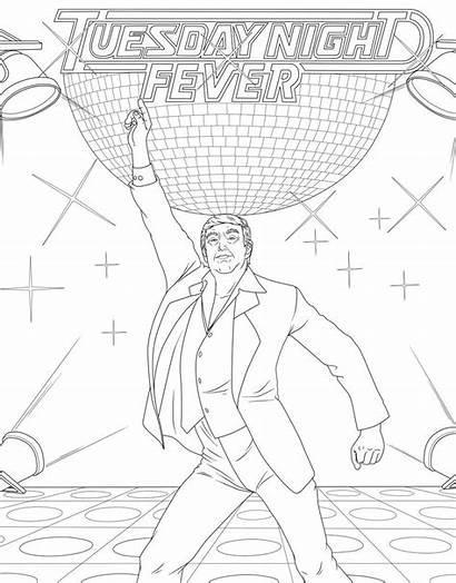 Trump Coloring Donald Saturday Night Fever Adults