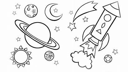 Sky Coloring Night Saturn Pages Printable Sheet