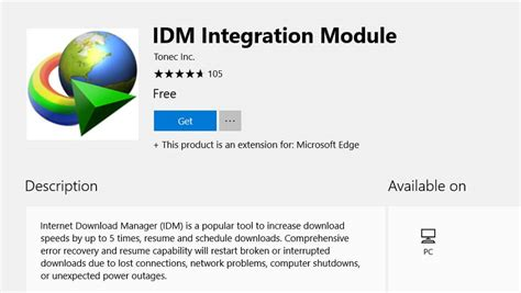 Comprehensive error recovery and resume capability will restart broken or interrupted downloads due to lost connections, network problems, computer. Internet Download Manager (IDM) extension for Microsoft Edge is now available