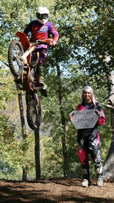 motocross engagement couple dirt bike couple