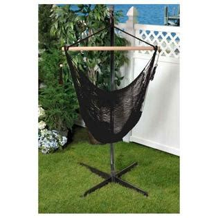 Cotton Hammock Chair by Bliss Hammocks Bhc 412blk Woven Cotton Rope Hammock