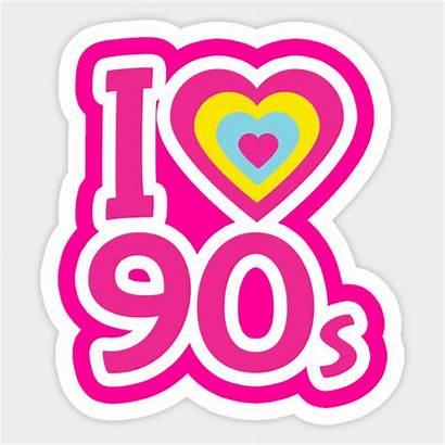 90s 90 1990s Sticker Teepublic