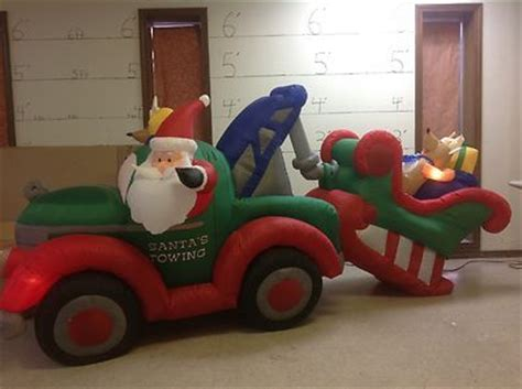 gemmy prototype airblown inflatable animated santa towing
