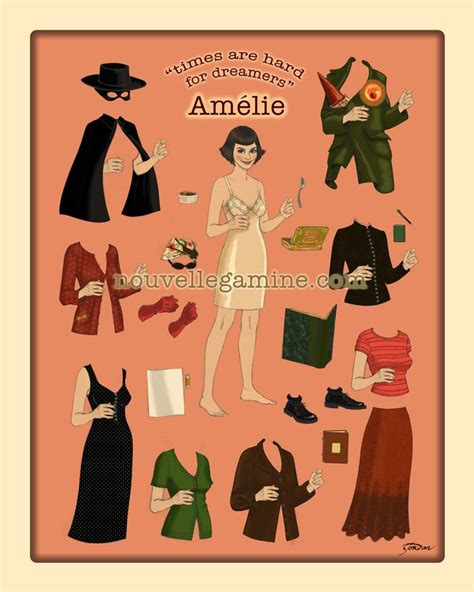 bottom lace amelie paper doll poster nouvellegamine