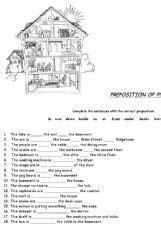 esl english exercises prepositions  place