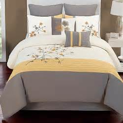 buy camisha 8 comforter set in yellow grey from bed bath beyond