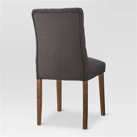 thresholdtm brookline tufted dining chair charcoal brookline tufted dining chair threshold target