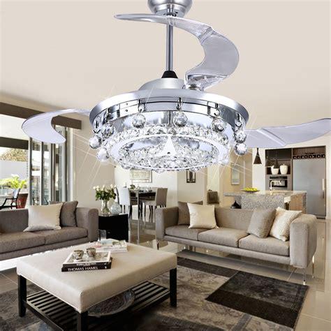 fan for room led fan crystal chandelier dining room living room fan