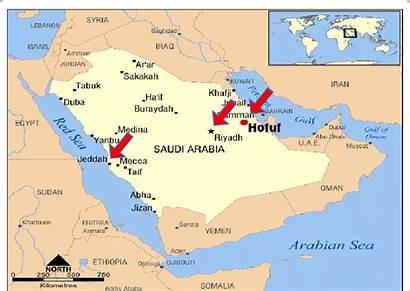 Saudi Arabia Cities Map Showing Where Research