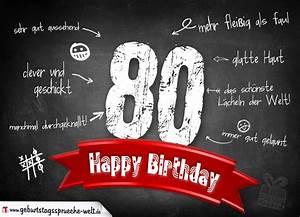 Besinnliches Zum 80 Geburtstag : komplimente geburtstagskarte zum 80 geburtstag happy birthday geburtstagsspr che welt ~ Frokenaadalensverden.com Haus und Dekorationen