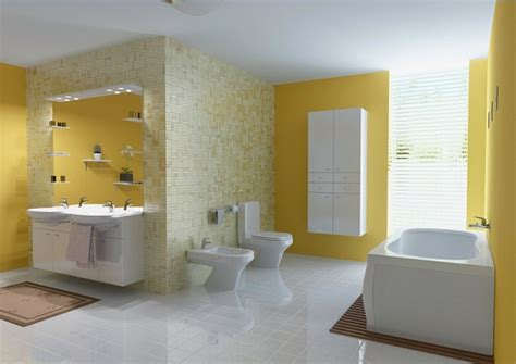 fancy yellow color paint ideas  bathrooms home interiors