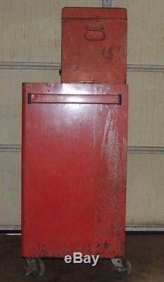 vintage snap  top box  bottom kraa tool chest