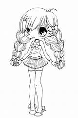Coloring Chibi Pages Printable sketch template