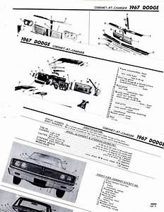 Find 1967 Dodge Charger Coronet 440 500 Rt 67 Body Parts List Frame Crash Sheet M Motorcycle In