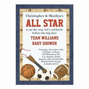 sports baby shower invitations babyshowerinvitations4u With sports baby shower invitations templates