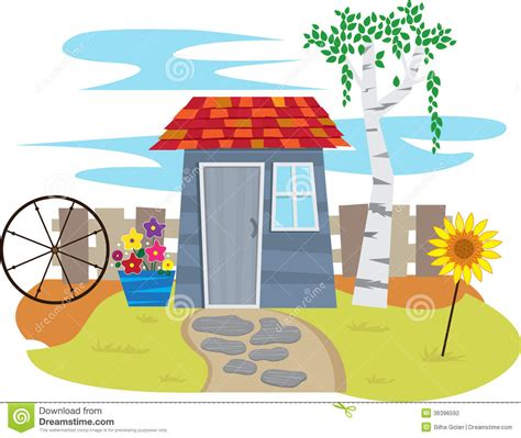 shed cartoons illustrations vector stock images