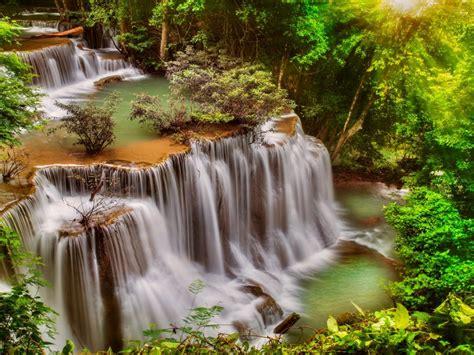 beautiful waterfall thail desktop background