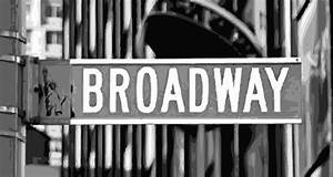 Broadway Sign Color Bw10 Photograph by Scott Kelley
