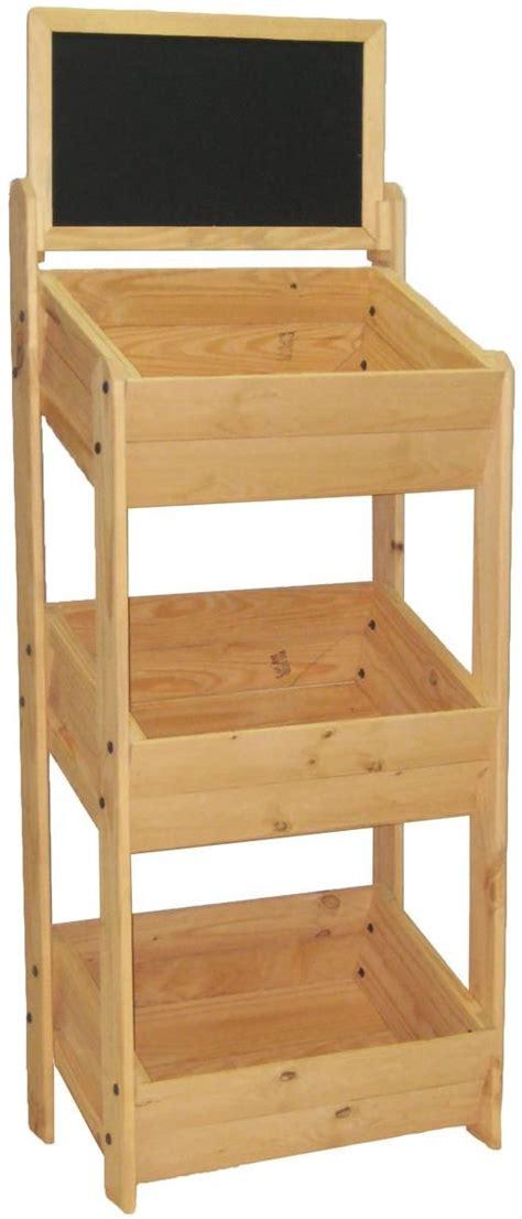 three tier floor l 3 tier dump bin floor standing pine wood frame with