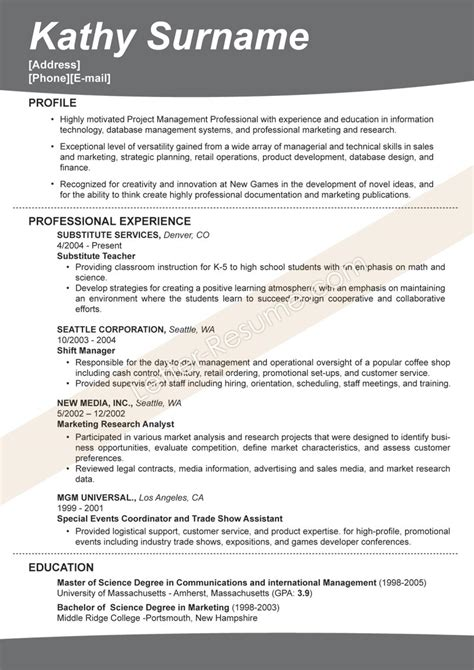 Effective Writing Of Resume by Effective Resumes Sles Vita Resume Exle Unit Clerk Sle Resume