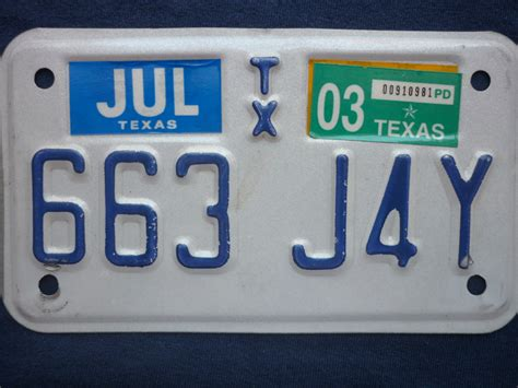 Texas Motorcycle License Plate