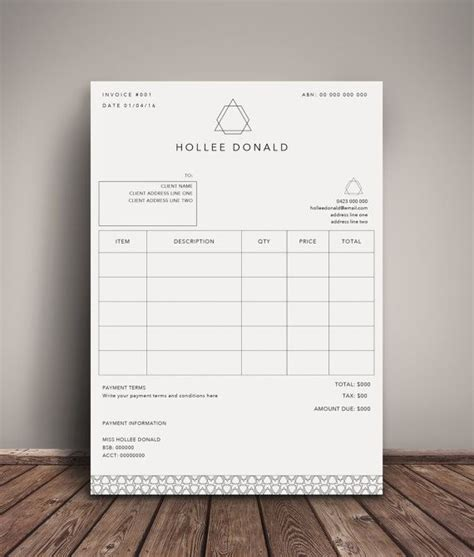 invoice template receipt template invoice instant