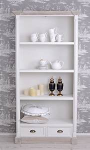 Regal Shabby Chic : b cherregal shabby chic regal schubladen bibliotheksschrank weiss k niglich ~ One.caynefoto.club Haus und Dekorationen