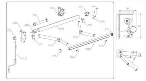 awning material retractable awning parts rate  manual awning gear box  item