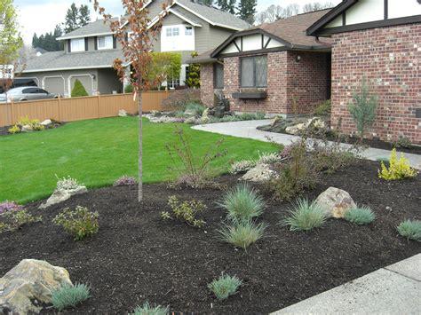sloping front yard image of steep slope landscaping ideas on a sloped front yard backyard hillside landscape