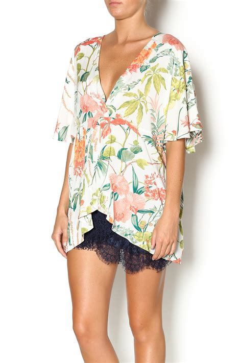 hawaiian print blouses entro tropical print blouse from mississippi by allyoops