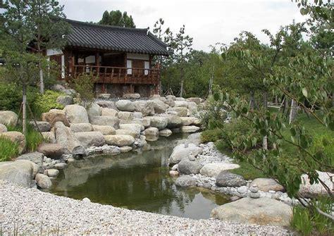 Koreanischer Garten Pavillon Am Wasser Kye Zeong Teich